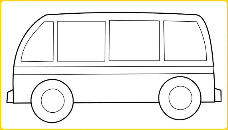 sketsa gambar mobil untuk anak tk hiace