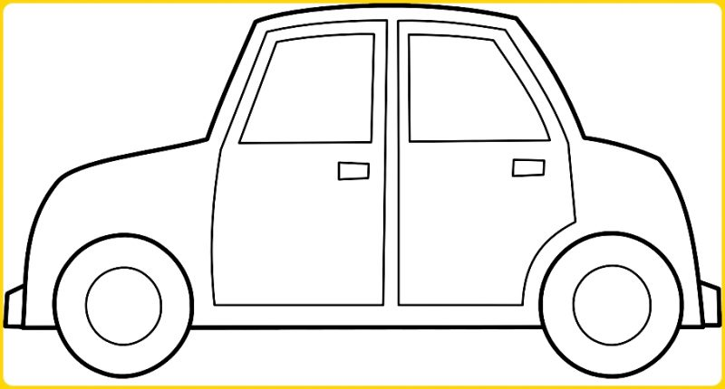 sketsa gambar mobil untuk anak tk