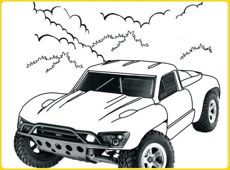 sketsa gambar mobil untuk mewarnai keren