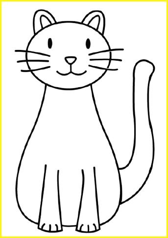 sketsa kucing mudah