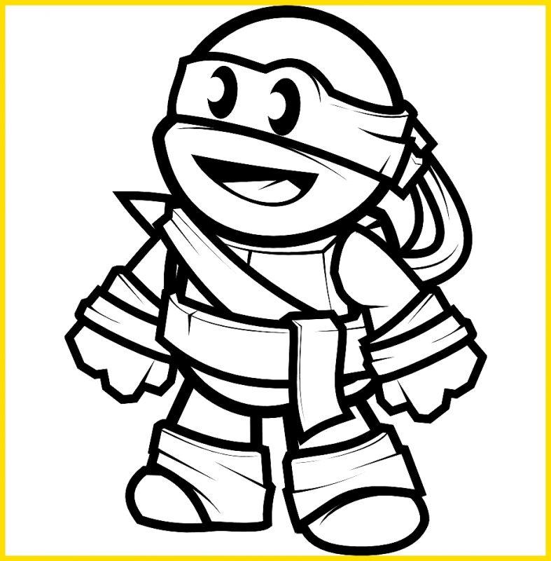 sketsa kura kura ninja