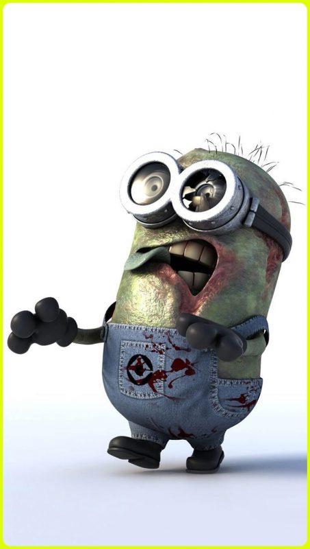 sketsa minion zombie