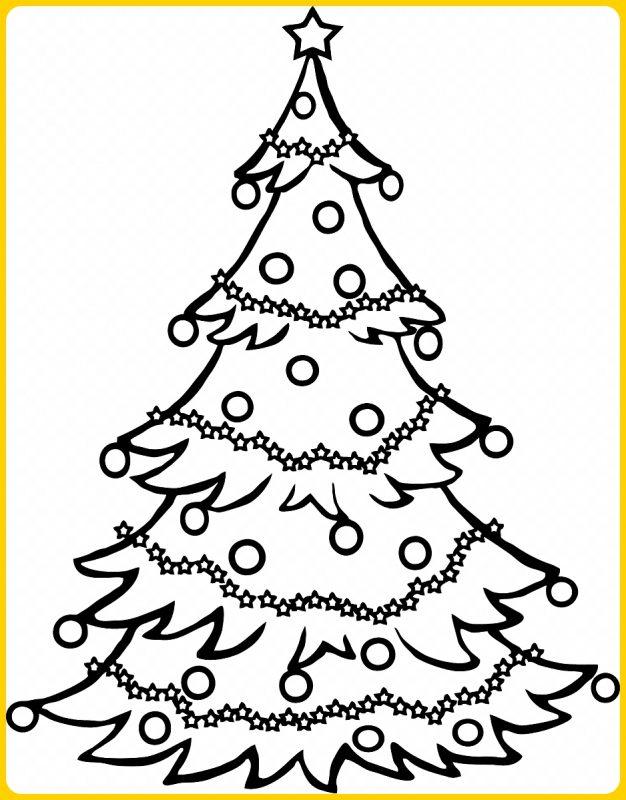 sketsa pohon natal