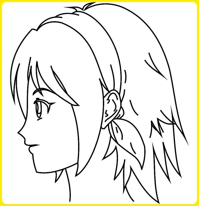 sketsa wajah anime