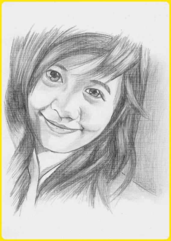 sketsa wajah manusia