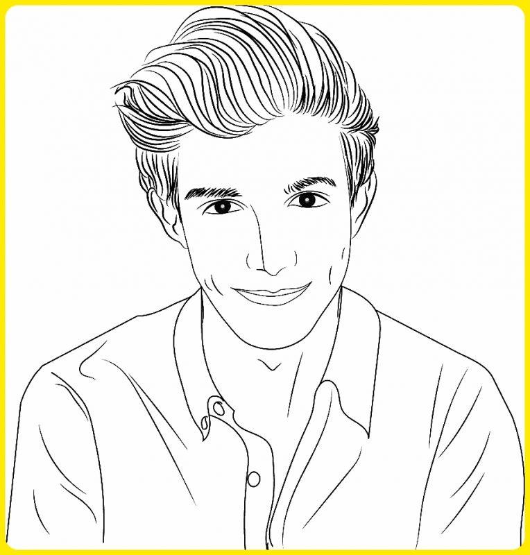 sketsa wajah pria