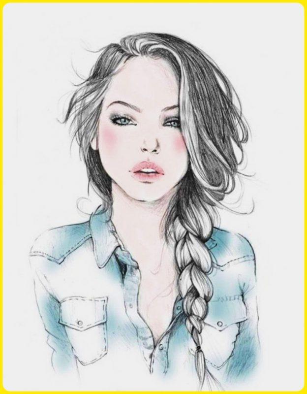 sketsa wajah wanita cantik