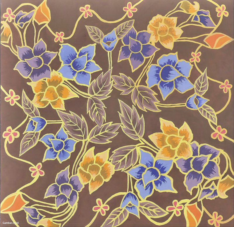 Batik Motif Flora Warna-Warni