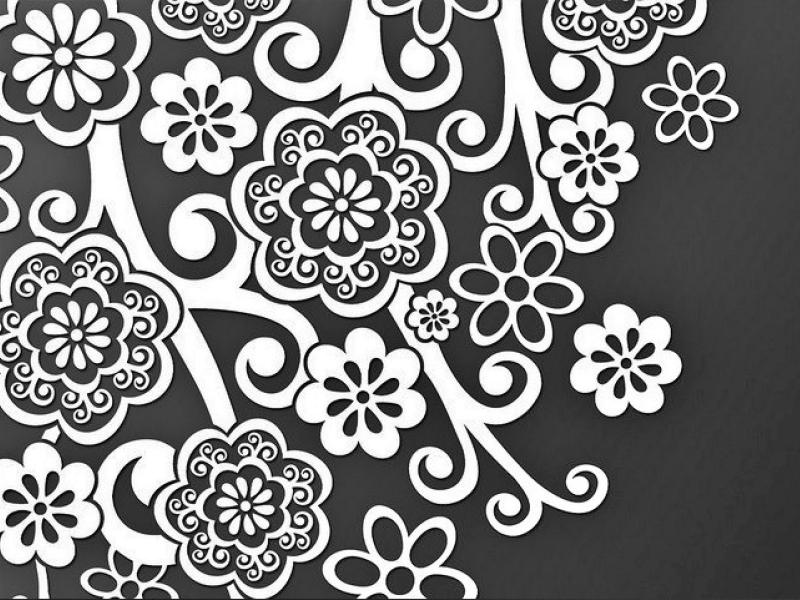 Sketsa Batik Hitam Putih