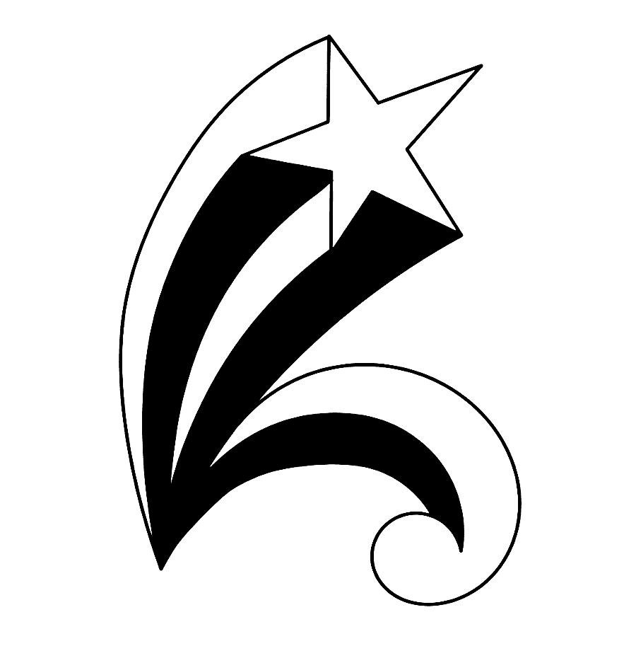 Sketsa Bintang Jatuh
