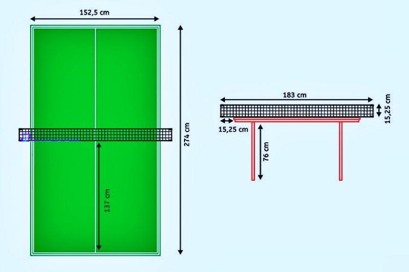Ukuran Net Tenis Meja