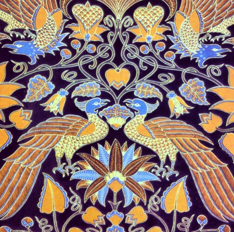 gambar batik Merak