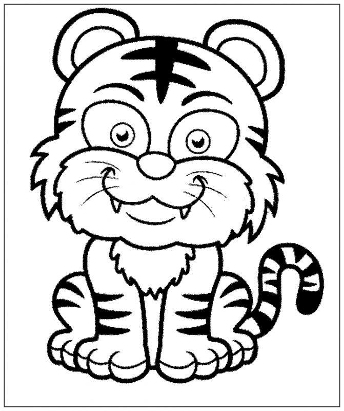gambar harimau kartun dan lucu