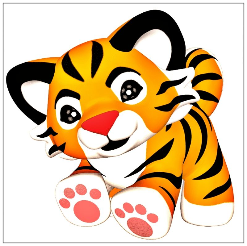 gambar harimau kartun lucu dan imut