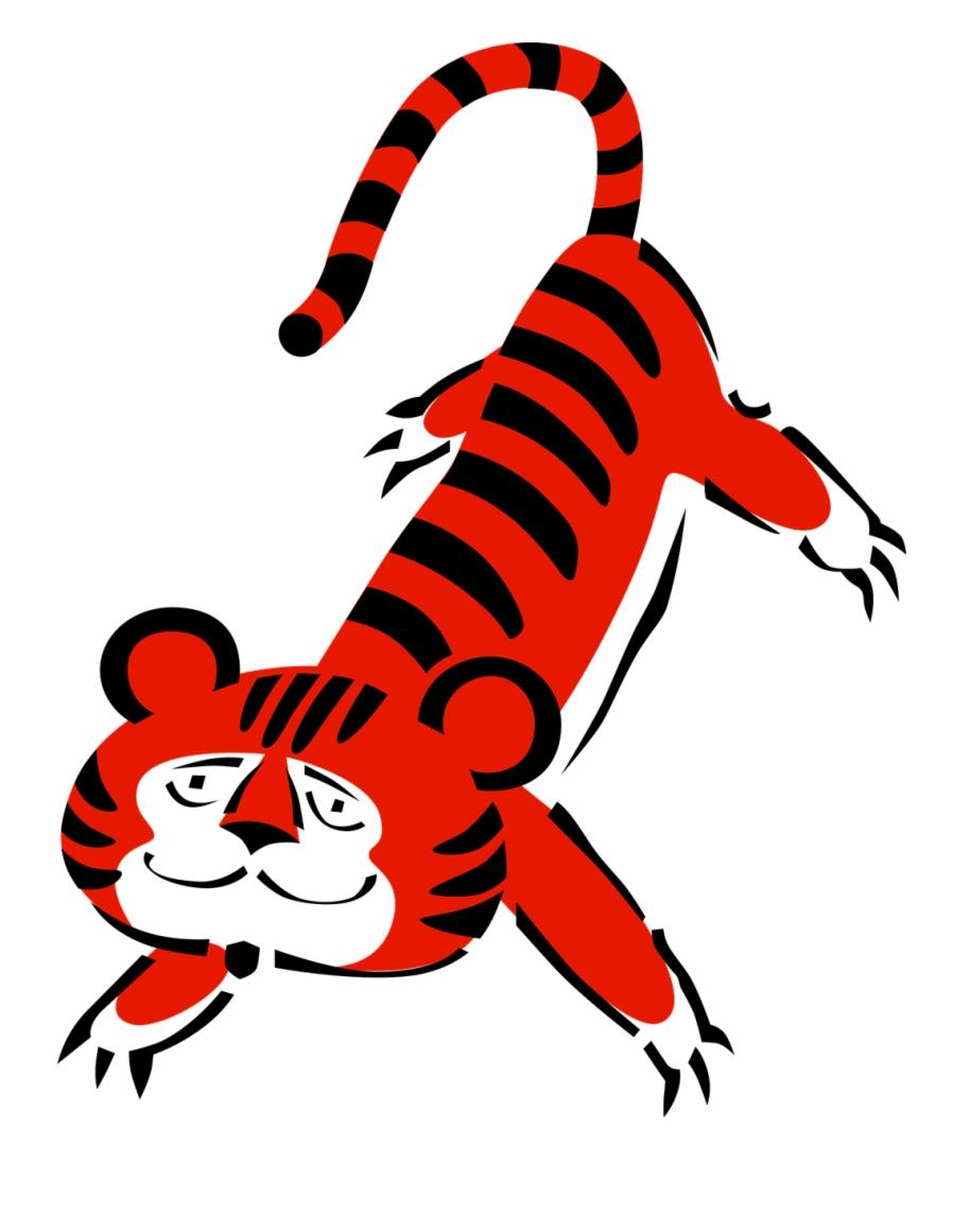 gambar harimau kartun tiduran