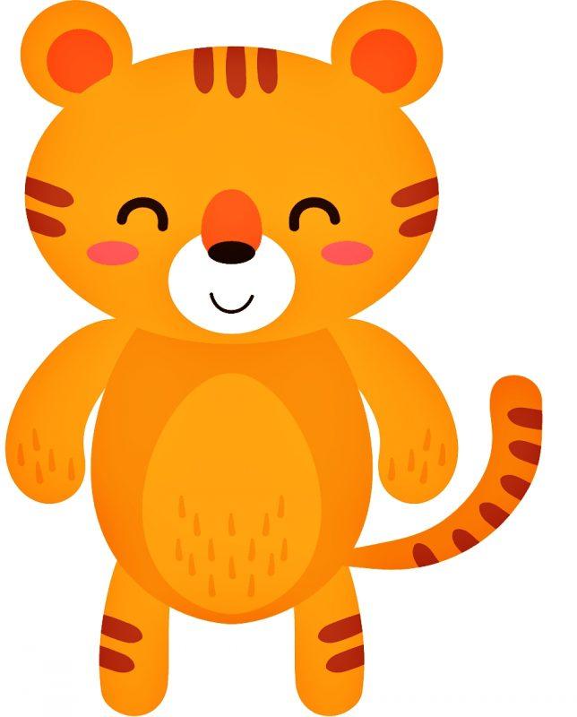 gambar kartun harimau imut sederhana