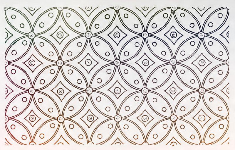 gambar sketsa batik