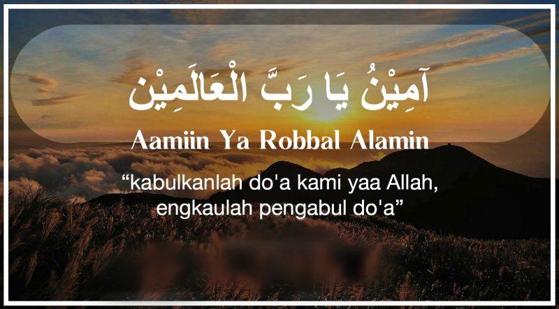 Aamiin Ya Rabbal 'Aalamiin Penulisan Yang Benar