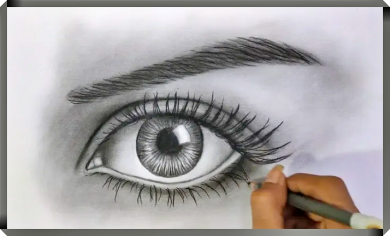 Cara Menggambar Mata dengan Menggunakan Teknik Gosok atau Dusel