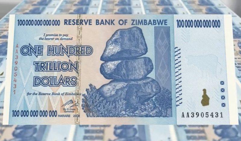 Pecahan 100 Triliun Zimbawe