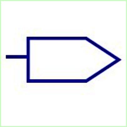 Simbol Listrik Garis Output Bus