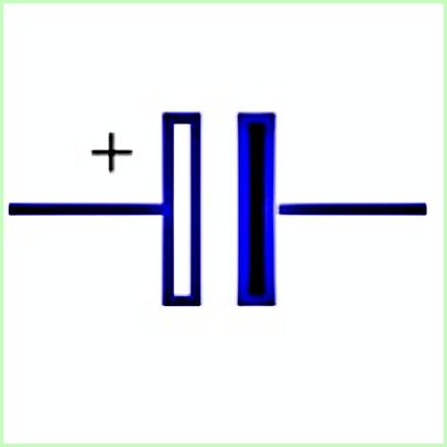 Simbol Listrik Kapasitor Elektrolit