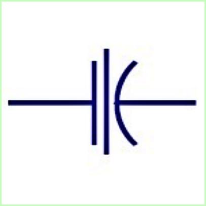 Simbol Listrik Kapasitor Melalui Umpan