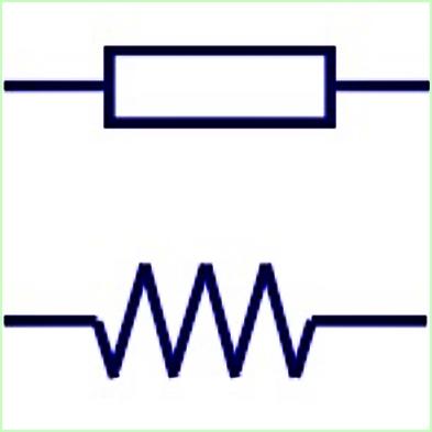Simbol Listrik Resistor Tetap