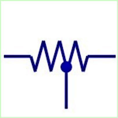 Simbol Listrik Tapped Resistor