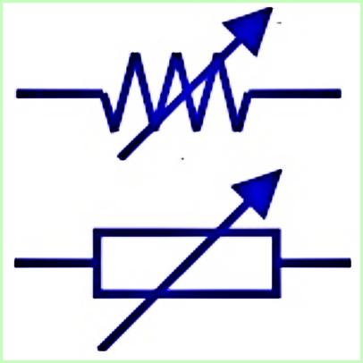 Simbol Listrik Variabel Resistor Rheostat