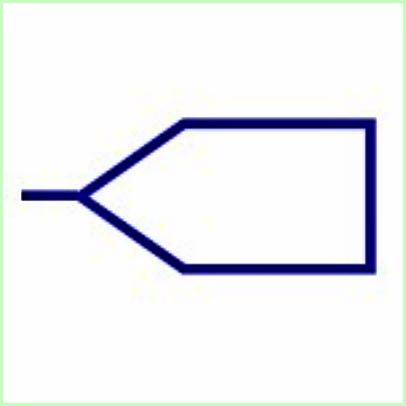 Simbol listrik Garis Input Bus