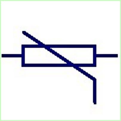 Simbol listrik Thermistor