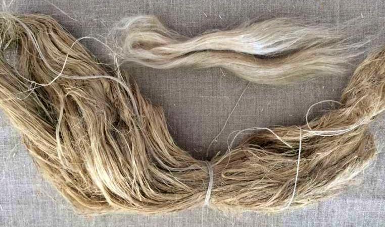 kerajinan dari serat tumbuhan serat flax