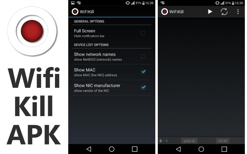 Aplikasi bobol WiFi Kill
